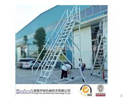 4m Industrial Aluminum Platform Ladder With Wheels