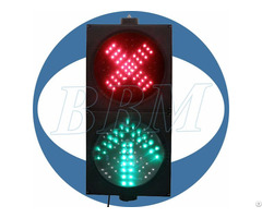 Dia 200mm Red Cross And Green Arrow Led Traffic Light