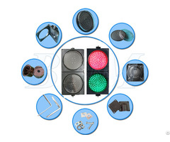 Dia 300mm Red And Green Ball With Clear Lens Led Traffic Light