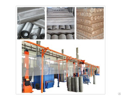 Wire Mesh Powder Coating Line Plant Equipment Machine