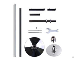 Stripper Adjustable Chrome Portable Pole Dance Fitness Training Kit
