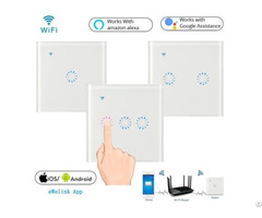 Eu Uk Standard 86 Type Wifi Smart Touch Wall Switch
