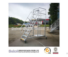 Industrial Aluminum Platform Step Ladders With Safety Door