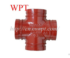 Fm Ul Ce Approved Equal Grooved Red Cross Ductile Iron Pipe Fittings Wpt Brand