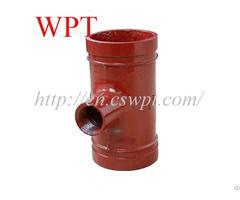 China Reducing Tee Thread Branch Ductile Iron Grooved Pipe Fittings Supplier