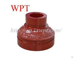 Concentric Reducer Both Grooved Ends Ductile Iron Fittings For Fire Fighting System