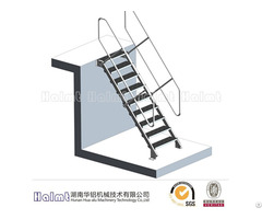 Aluminum Fixed Access Step Ladder For Industry