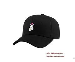 Azo Free 6 Panel Baseball Caps With Metal Clasp Buckle
