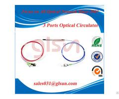 Glsun 3 Port Polarization Insensitive Optical Circulator