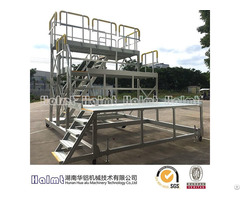 Mobile Industrial Aluminum Work Platform Ladder For Aviation