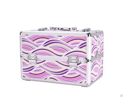Hot Selling Portable Transparent Acrylic Cosmetic Case With Trays Wholesale
