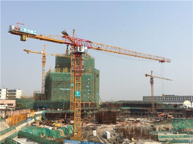 Qtp250 Tct7521 Topless Tower Crane Max Load 12t Or 16t Maxjib Length 75m