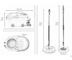 Kxy Jlt Spin Mop With Foot Pedal