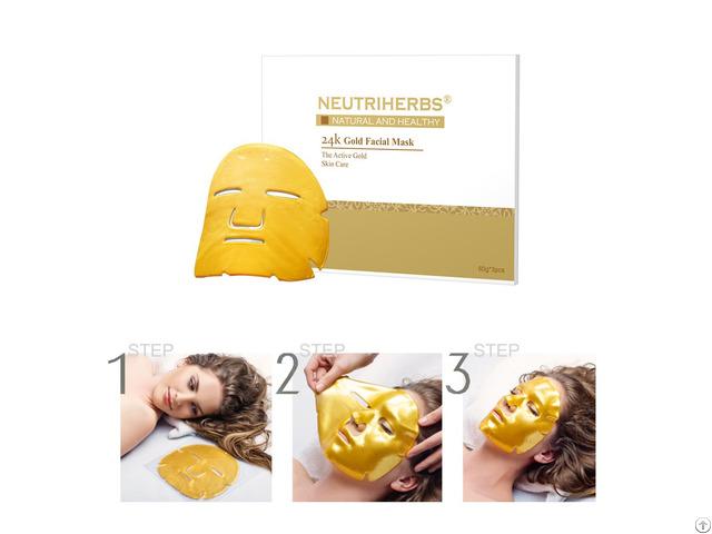 24k Gold Anti Wrinkles Bio Collagen Facial Mask