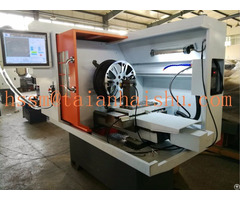 Small Cnc Alloy Wheel Repair Lathe Machine Ck6160q
