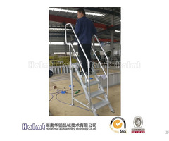 Stationary Aluminium Steps With Handrails