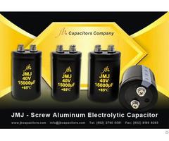 Jmj Screw Aluminum Electrolytic Capacitor 2000h At 85°c General Miniaturized