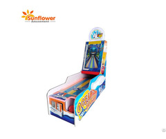 Coin Operated Redemption 1 Player Ocean Bowling Video Game Machine With Ticket Back