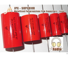 Jpx Supreme Metallized Polypropylene Film Capacitors Axial