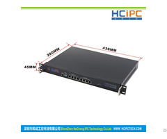 Hcipc Hcl Sc1037 8lb2 Intel C1037 Cpu 6pcs 82574l Lan 1u Router Firewall System