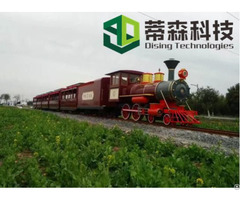 Wuhan Dising Amusement Park Mini Track Train Powered By Diesel With Ce Certification 63 Seats