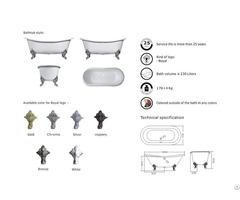 Double Slipper Cast Iron Bath Tub Yx 008