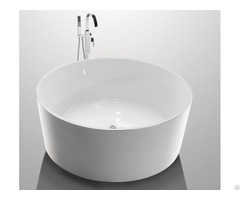 White High End Acrylic Freestanding Soaking Tubs For Small Spaces Round Shape Yx 732