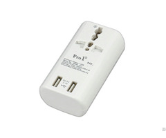 New Innovative Pro1 Global Travel Adaptor With Double Usb 3 1a Nwat 3u1 Wholesale