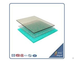 China Supply Embossed Pc Sheet For Rain Protection In Window And Door