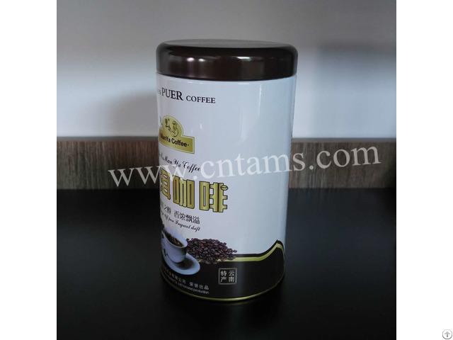 Custom Round Coffee And Tea Tin