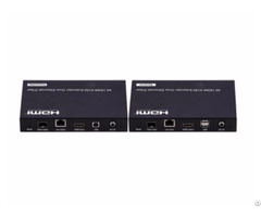 4k Low Latency Kvm Hdmi Extender Over Ip Fiber With Rs232 Remote Led