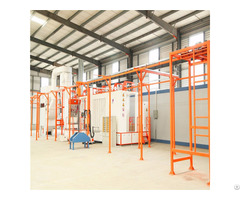 Professional Electrostatic Powder Coating System With High Strength Conveyor Transport