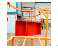 High Efficiency Hanna Powder Recovery Spray Booth For Electric Cabinet Coating Line