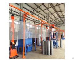 Hot Sale Wire Mesh Coating Manual Powder Spray Painting Booth