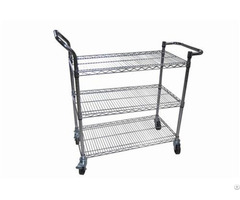 Factory Price Stainless Steel Trolley Esd Turnover Cart Storage Shelf Manufacture