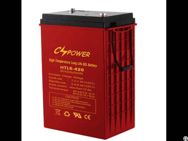 Deep Cycle Gel Battery 6v 420ah For 48v Solar Power System