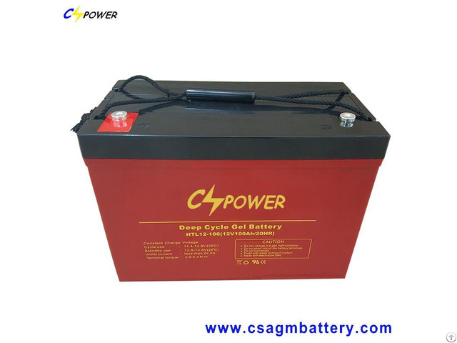 Pure Gel Battery 12v100ah For 48v Solar Power System Htl12 100ah
