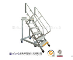 Moveable Aluminium Working Step Ladders With Extension Handrails