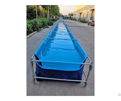 Galvanized Steel Pipe Bracket Pvc Material Foldable 32m Long Breeding Pool Tank For Lobster And Fish