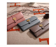 Factory Supply Customized Women Pu Leather Long Purses Wallet Leathers Purse