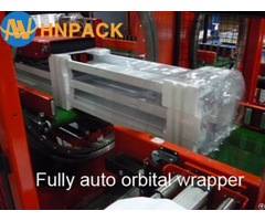 Orbital Stretch Timber Wrap Machine For Door Frame Pipes Tubes Aluminum Profiles