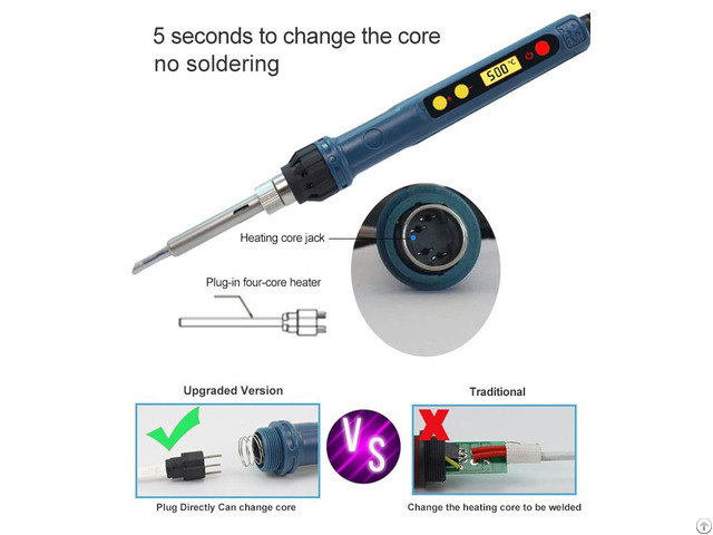 Cxg D110 Pocket Size Smart Mini Outdoor Portable Soldering Iron Station Kit Lcd Display