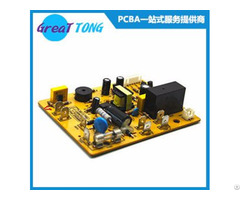 Electrical Motor Pcb Assembly And Manufacturing Yellow Solder Mask