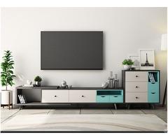 Modern Design Wood Melamine Finish Tv Stand Table