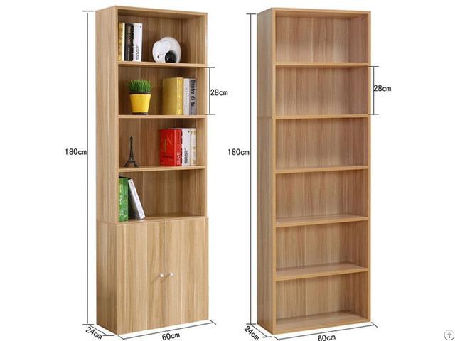 Customize Size Design Wood Bookcase With Melamine Finish