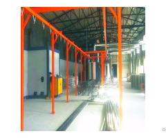 Powder Coating Spray Paint Line With Transport System Conveyor Chain