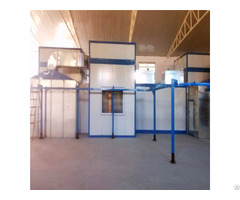 High Quality Manual Powder Paint Spray Room For Steel And Wood Furniture