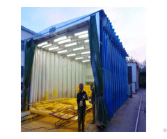 Spray Painting Booth Machine For Farm Machinery Parts Powder Coating Line