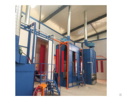 Small Manual Powder Coating Booth Advanced Electrostatic Spraying Paint Machine