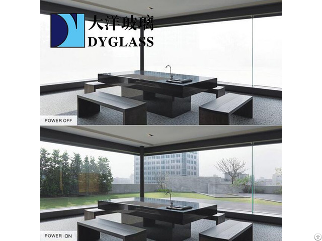 Smart Electric Special Laminated Reeded Glass With Ld Film